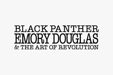 logo for Black Panther, Emory Douglas and the Art of Revolution