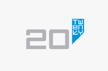 logo for 20:Twenty exhibition, Cornerhouse, Manchester